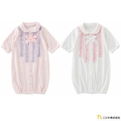 Nishiki 日本株式會社 蝴蝶結領片連身衣包屁衣