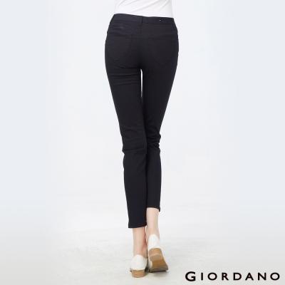 GIORDANO女裝低腰彈力修身窄管褲-09黑色