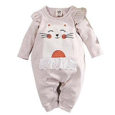 微笑貓厚棉連身衣杏色 k60626 魔法Baby