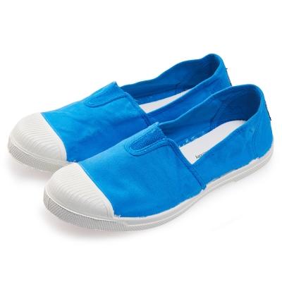 (女)Natural World 西班牙休閒鞋 素色鬆緊基本款*天空藍