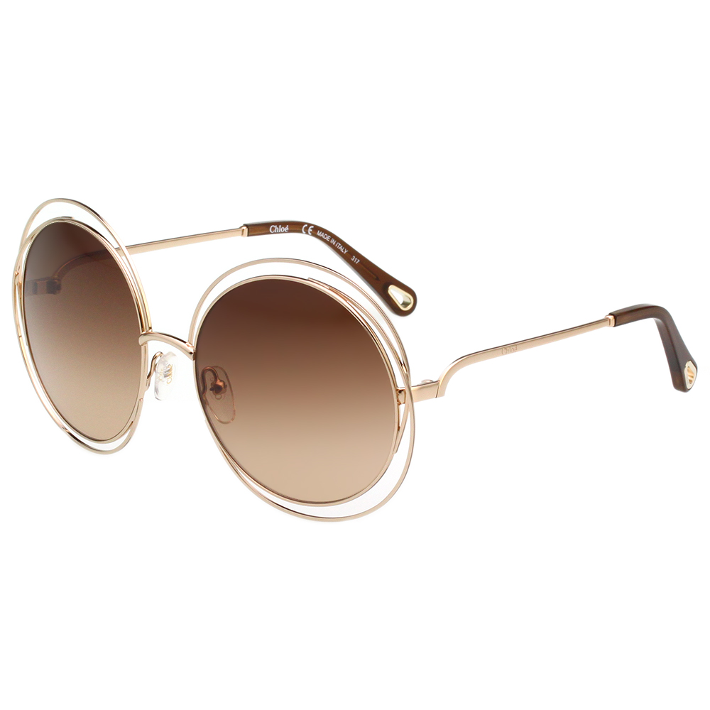 CHLOE金屬大框 太陽眼鏡 金色 CE114SD(小面版並可裝眼鏡鏈)