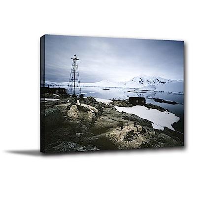 24mama掛畫-單聯式橫幅 掛畫無框畫 企鵝的家 40x30cm