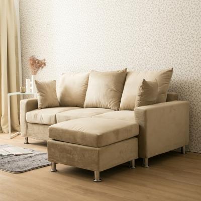 日安家居 Iris艾麗舒柔3+1 L型沙發 多色選