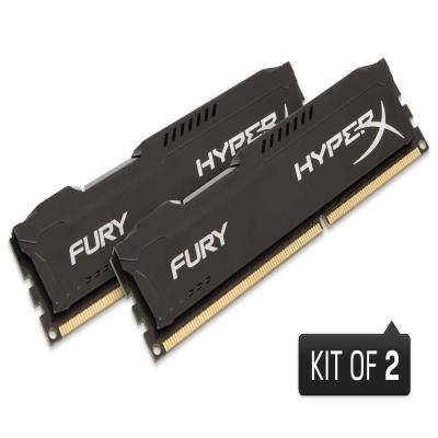 Kingston 金士頓 Fury DDR3-1866 16G桌上型記憶體/8G* 2/黑