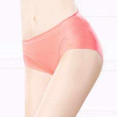 內褲 健康抑菌竹炭中腰M-XL無痕內褲 甜美橙 可蘭霓Clany