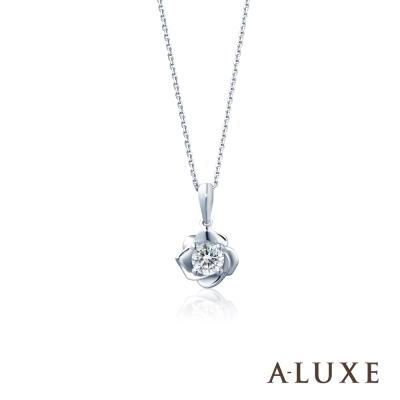 A-LUXE 亞立詩  Flora 18 K金  0 . 30 克拉法國玫瑰鑽石項鍊