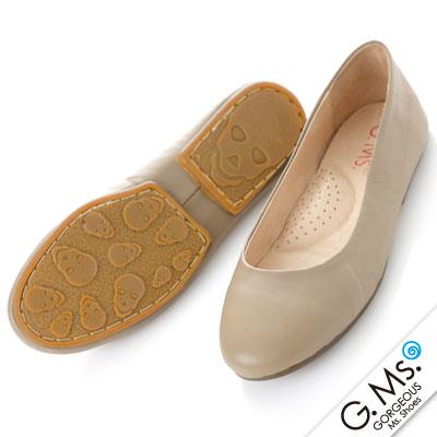 【G.Ms.】旅行女孩II‧素面全真皮可攜式軟Q娃娃鞋(附專屬鞋袋) ‧ 可可