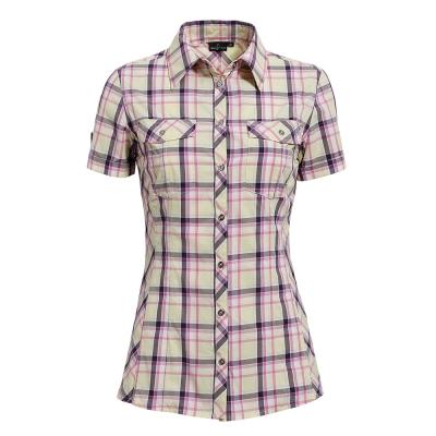 hilltop山頂鳥-女款吸濕快乾短袖襯衫S06F