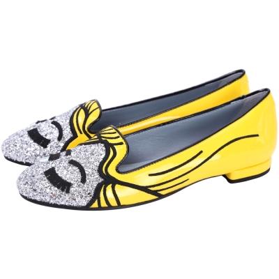 Chiara Ferragni Superhero 閃電女郎款撞色拼接樂福鞋