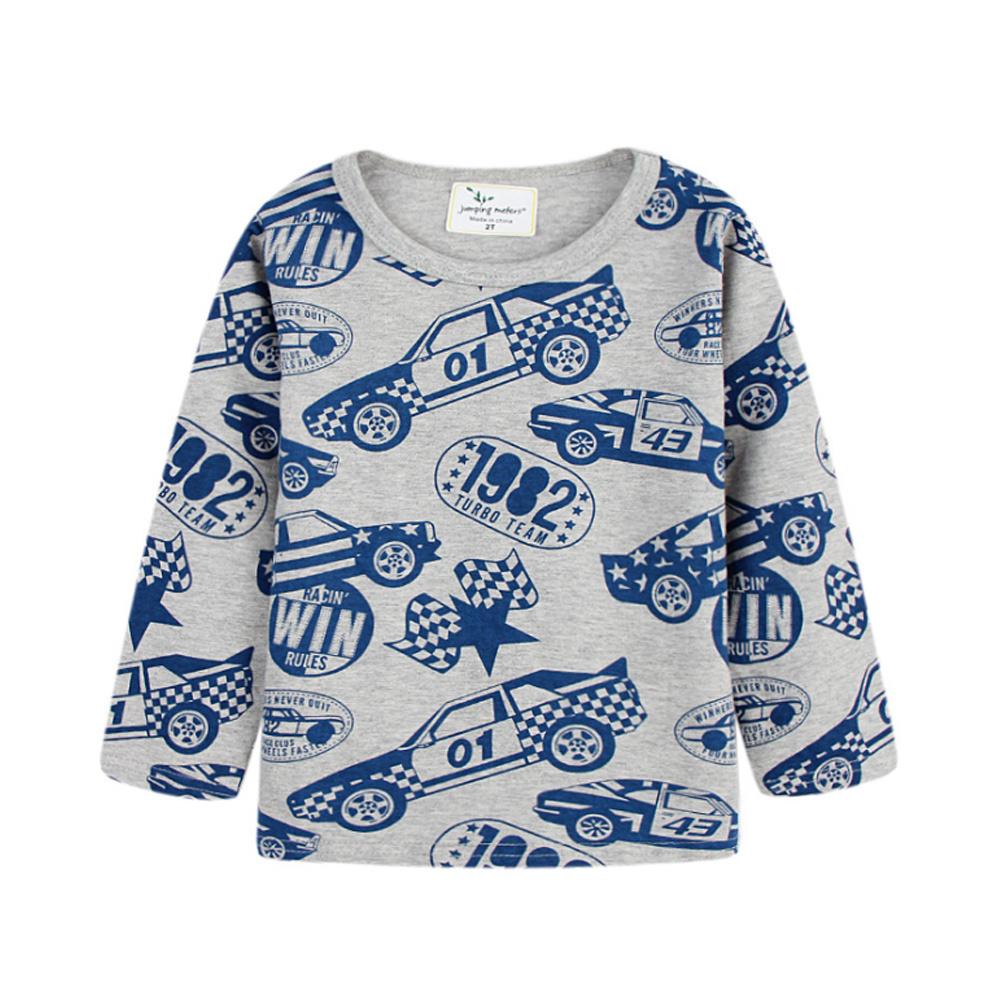 歐美風 男童純棉長袖T恤-復古車