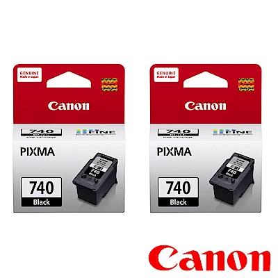 Canon PG-740 原廠黑色墨水二入組合