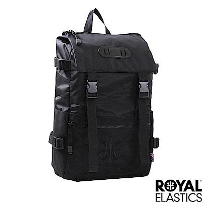 Royal-Elastics-撞色後背包-黑