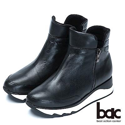 bac休閒時尚 厚底短靴-黑