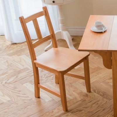 CiS自然行實木家具-南法實木餐椅(溫暖柚木色)原木椅墊