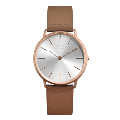 ZOOM THIN 極簡超薄腕錶-玫瑰金  /42mm