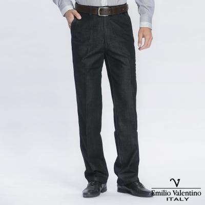 Emilio Valentino 范倫提諾經典仿牛仔休閒褲-黑