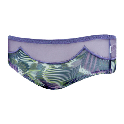 【曼黛瑪璉】混時尚III  低腰寬邊三角網褲(孔雀紫)