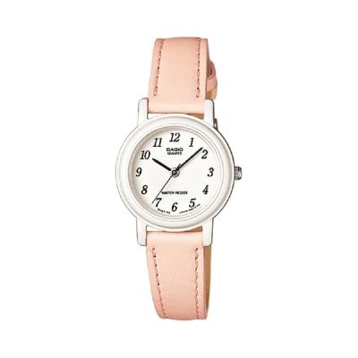 CASIO 馬卡龍甜心魅力皮帶腕錶(LQ-139L-4B2)-粉嫩橘/26mm