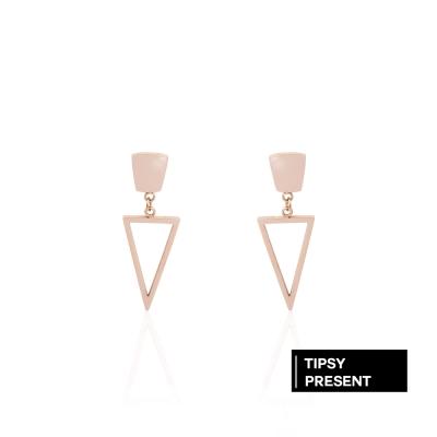 微醺禮物 耳環 正韓 鋼針 鋼飾 幾何圖形 垂墜 耳針