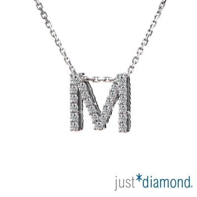 Just Diamond Love Words系列18K金鑽石墜子-M