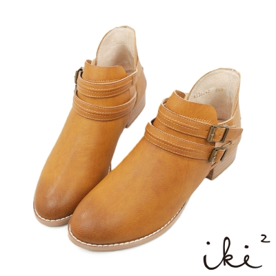 iki2-x-A-c-chi-chi-透視真皮短靴-中咖