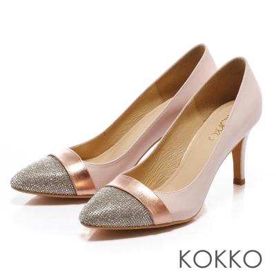 KOKKO閃耀金屬鑽飾氣質跟鞋