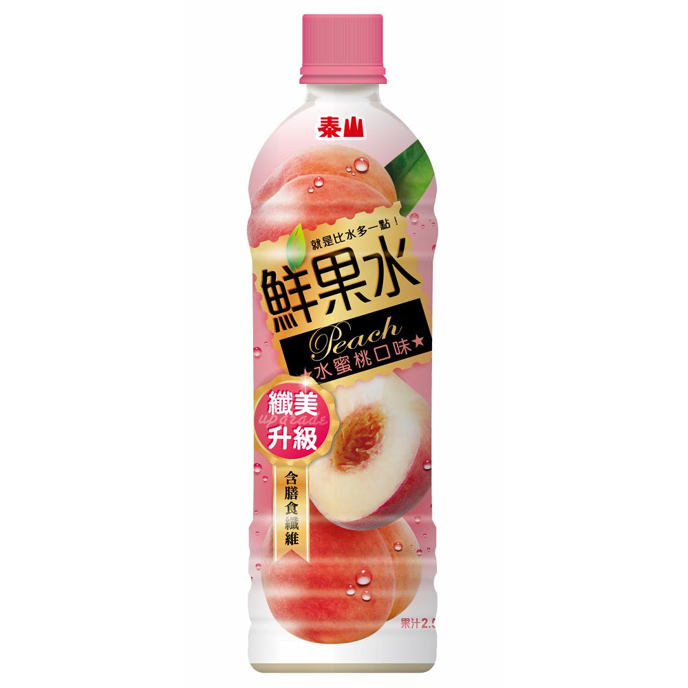 泰山 鮮果水-水蜜桃口味(590mlx24入)