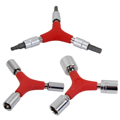 鐵馬行三向六角工具3件組(扳手*1+套筒*2)