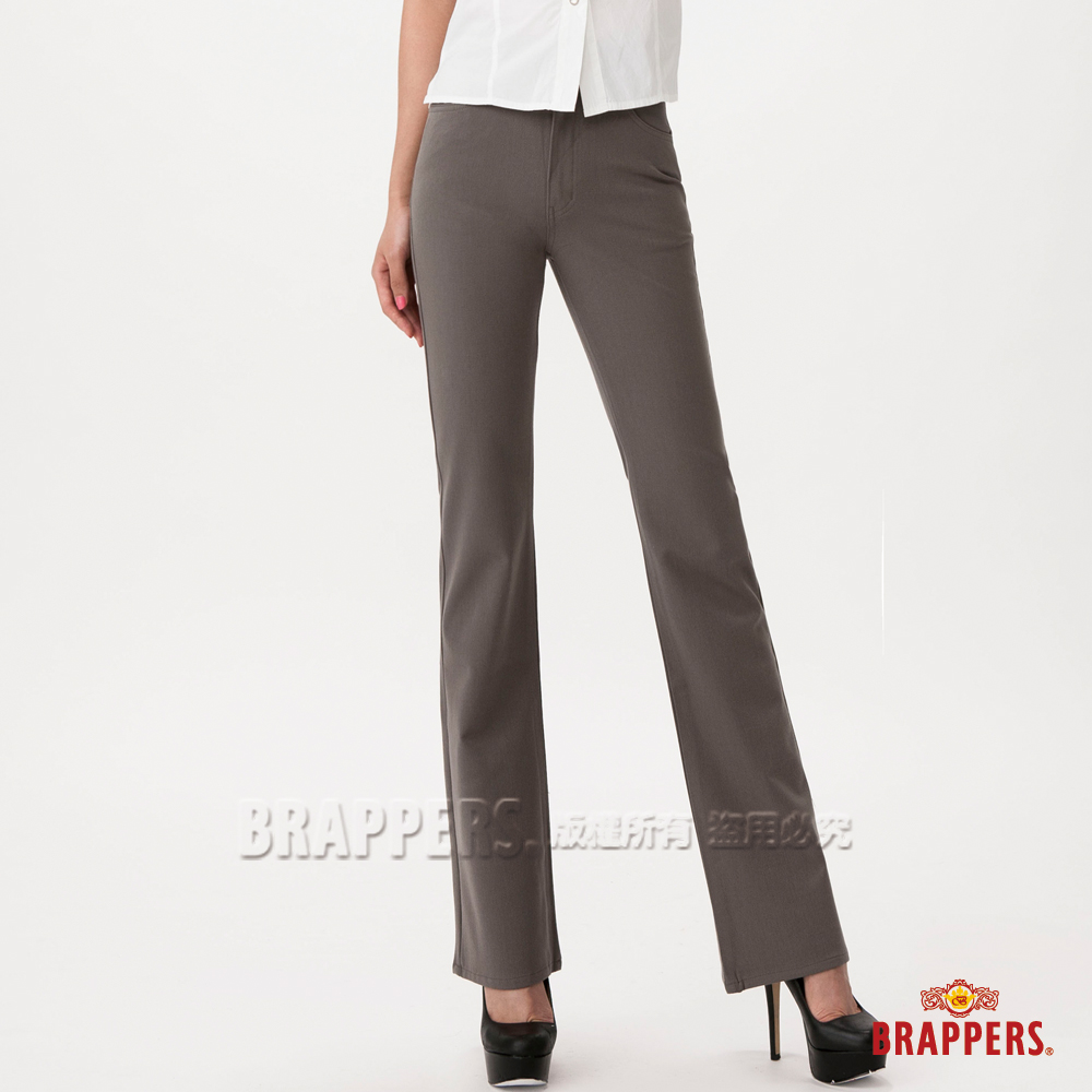 BRAPPERS 女款 女用彈性小喇叭褲-墨綠
