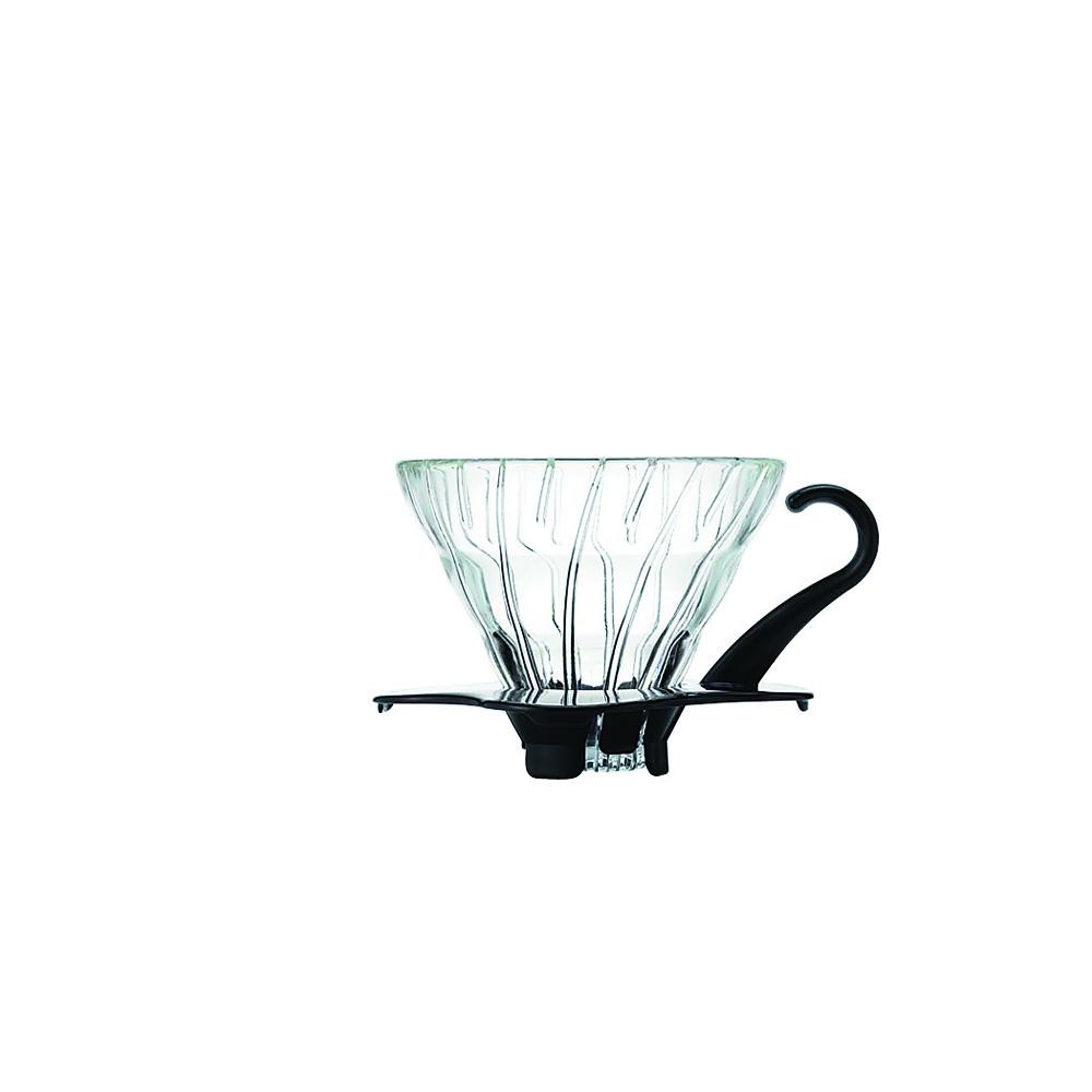 HARIO-V60黑色01玻璃濾杯1~2杯 / VDG-01B
