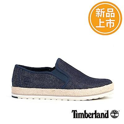 Timberland 女款藍色帆布便鞋