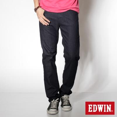 EDWIN 超大尺碼 基本五袋微彈高腰中直筒褲-男-原藍色