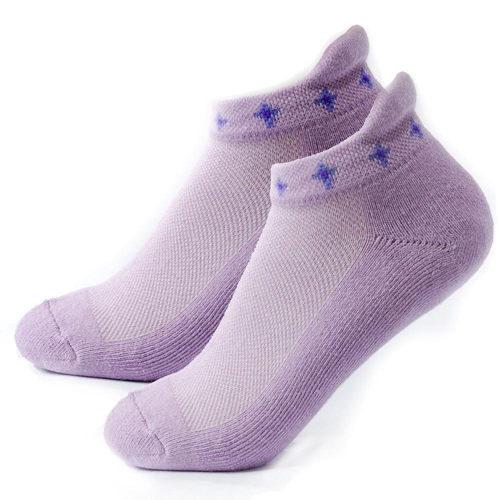 TiNyHouSe 舒適襪系列 厚底款 厚耳船襪 淺紫色M號2雙入