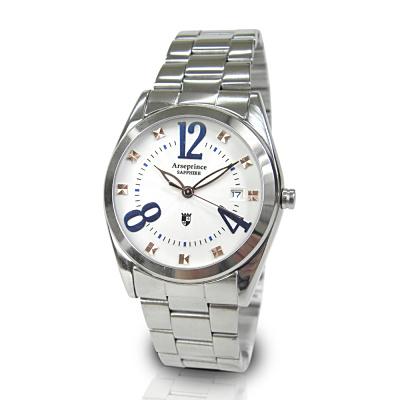 Arseprince 閃菱星刻 中性錶-藍色28mm