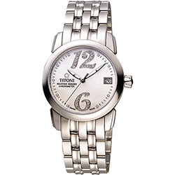 TITONI Master Series 天文台認證機械腕錶-珍珠貝x銀/33mm