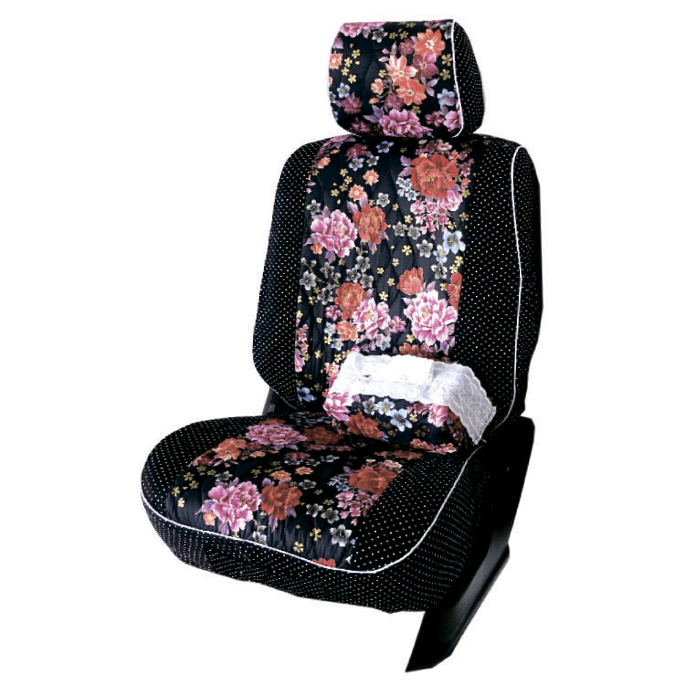 【葵花】量身訂做-汽車椅套-布料-花漾珍珠A-休旅車-6-8人座款1+2+3排
