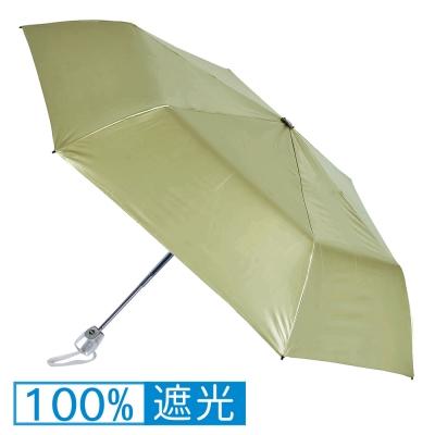 2mm 第二代 100%遮光降溫 黑膠自動開收傘 (草綠)