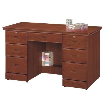時尚屋 長榮柚木色4.2尺書桌 寬127cm