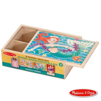 美國瑪莉莎 Melissa & Doug 盒中木製拼圖 - 夢幻好朋友