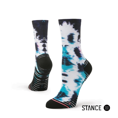 STANCE  SPEED OF LIGHT-女襪-慢跑機能中筒襪-漸層暈染設計款