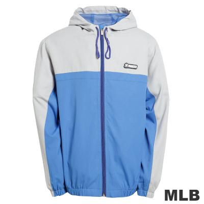 MLB-紐約洋基隊連帽風衣外套-淺藍(男)