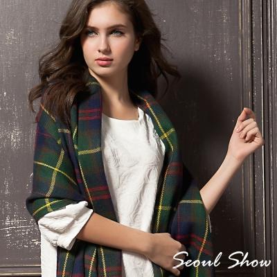Seoul-Show-蘇格蘭風笛格紋圍巾披肩5款