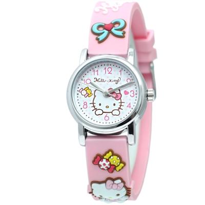 HELLO KITTY 凱蒂貓甜美可愛立體造型手錶-粉/27mm