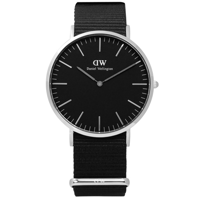 DW Daniel Wellington Classic 經典尼龍手錶-黑色/40mm