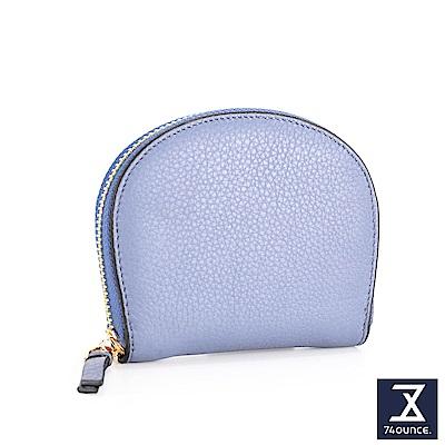 74盎司 半月型真皮卡片收納包[LN-699]粉藍