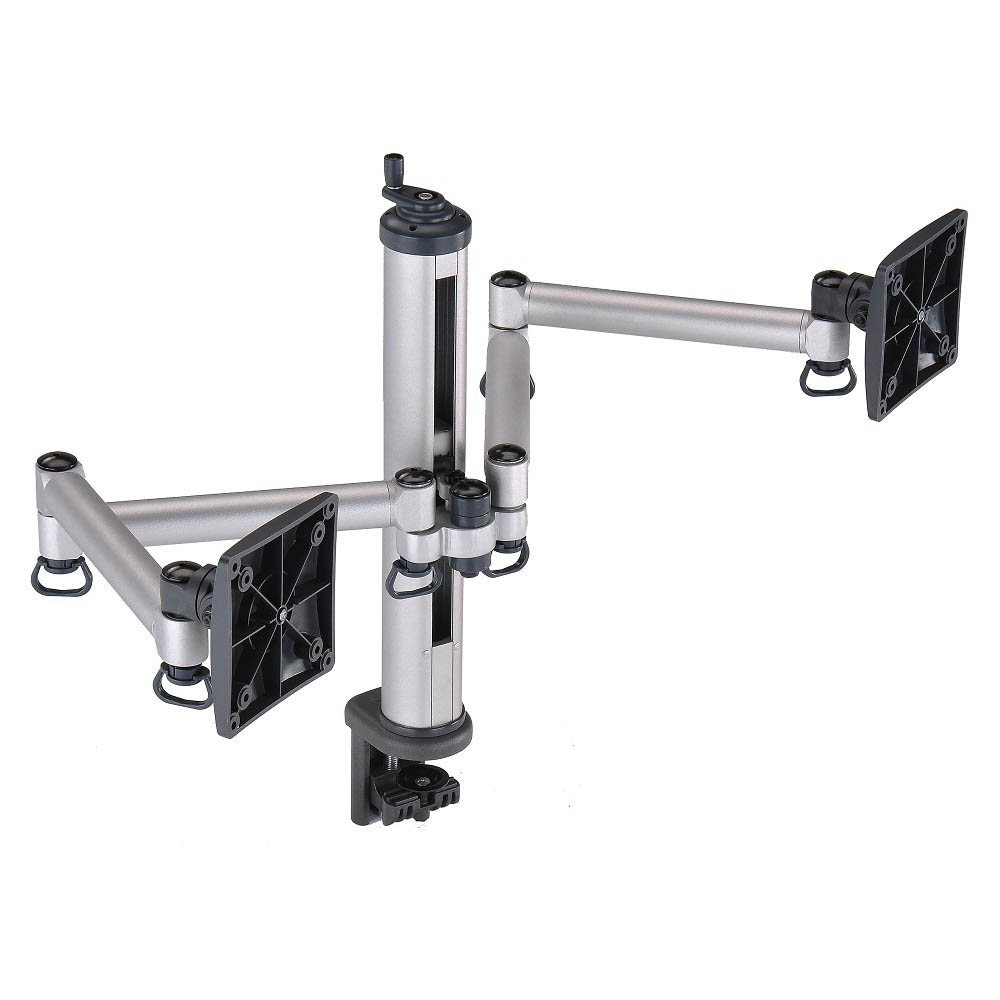 FOGIM 夾桌旋轉式液晶螢幕支架(雙螢幕)-TKLA-1222-S