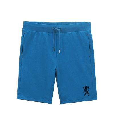 GIORDANO 童裝鬆緊腰純棉刺繡圖案休閒短褲 - 93 浮潛藍