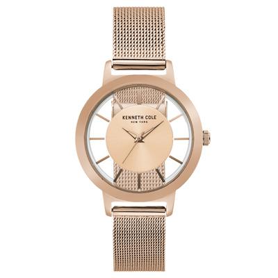 Kenneth Cole 沈穩低調時尚鏤空米蘭腕錶-KC15172002-38mm