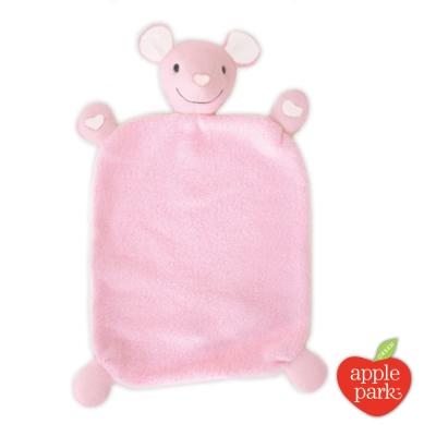 【美國 Apple Park】有機棉安撫巾彌月禮盒 - 粉紅鼠