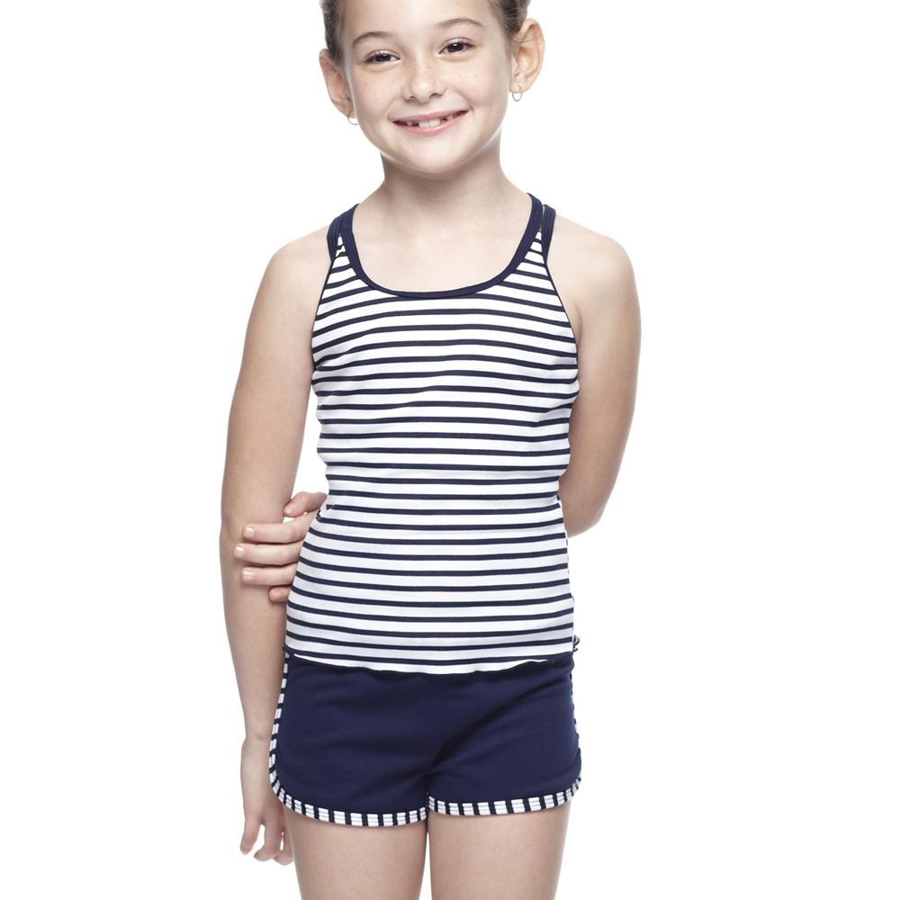 聖手牌兒童泳裝活力橫紋兩件式女童泳裝